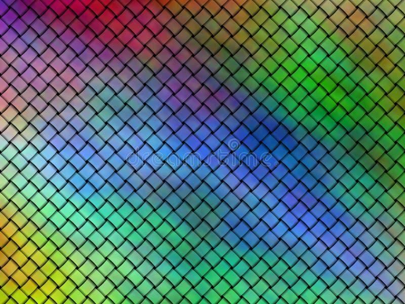 Naadloos patroon van verweven multicolored linten vector illustratie