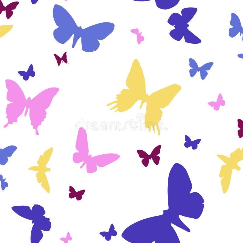 Naadloos patroon van vlinders vector illustratie