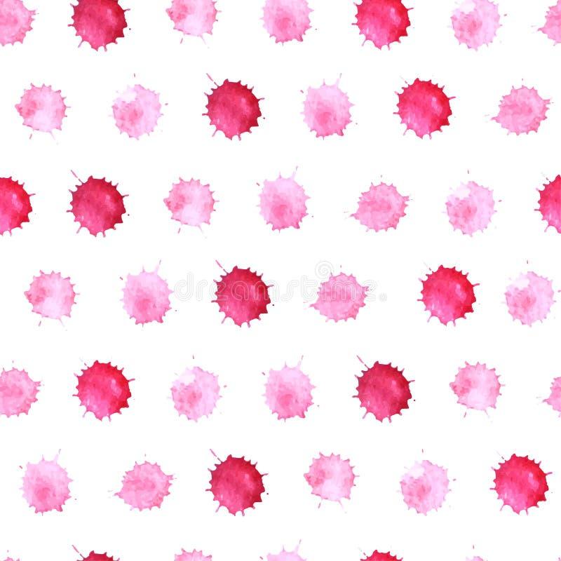 Naadloos patroon 5 van waterverfvlekken vector illustratie
