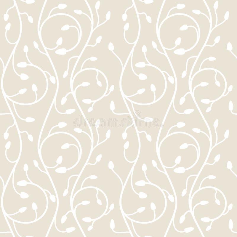 Naadloos patroon van wervelingen op een lichte beige achtergrond stock illustratie