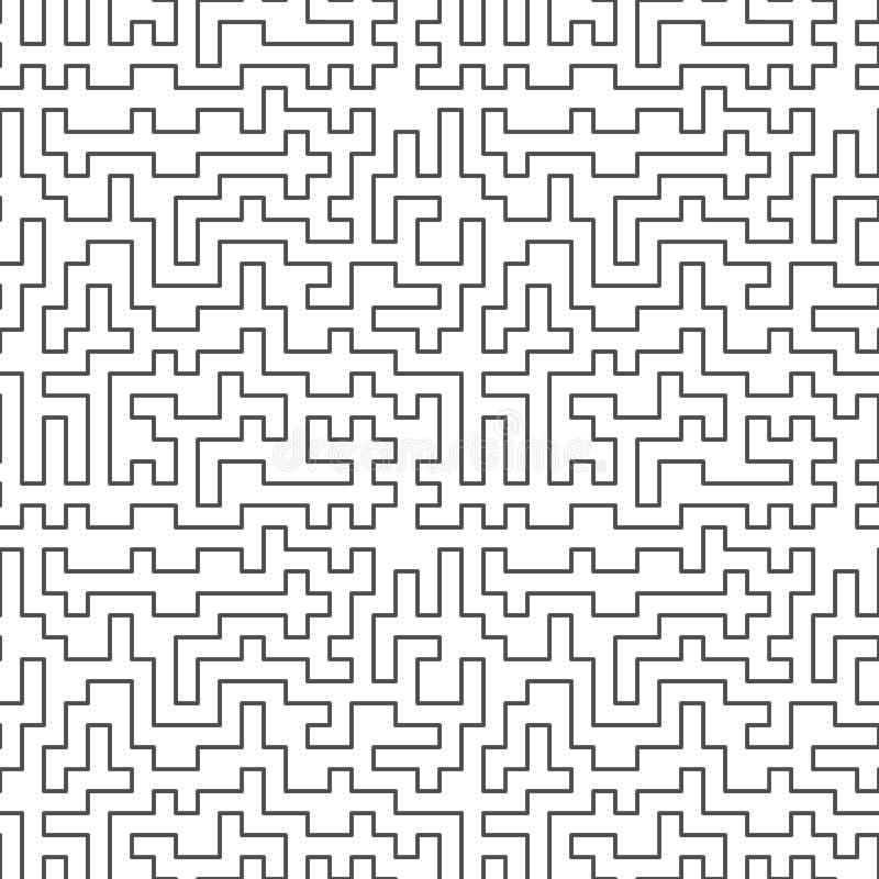 Naadloos patroon Verward labyrint abstracte achtergrond royalty-vrije illustratie