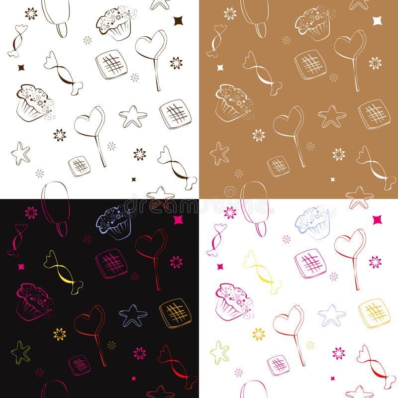 Naadloos patroon vier vector illustratie