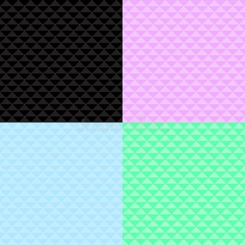 Naadloos patroon vier van vierkanten met punten vector illustratie