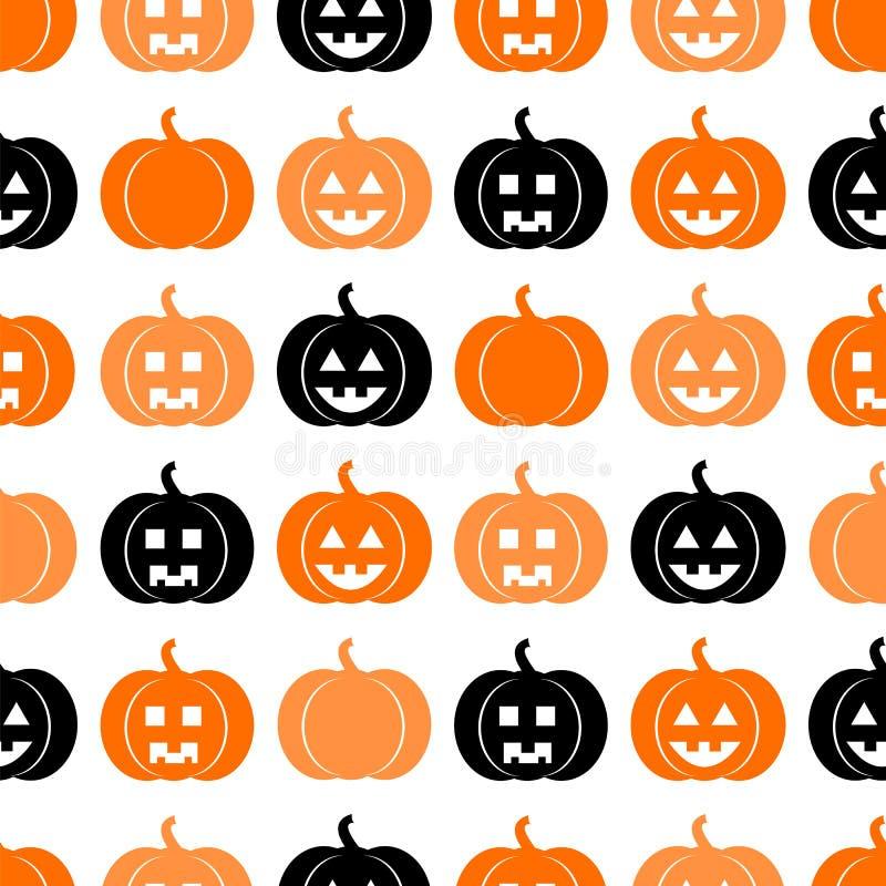 Naadloos patroon voor Halloween stock illustratie