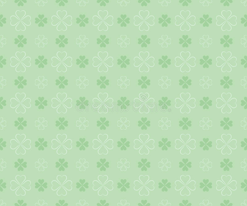 Naadloos patroon voor St. Patrick Dag stock illustratie