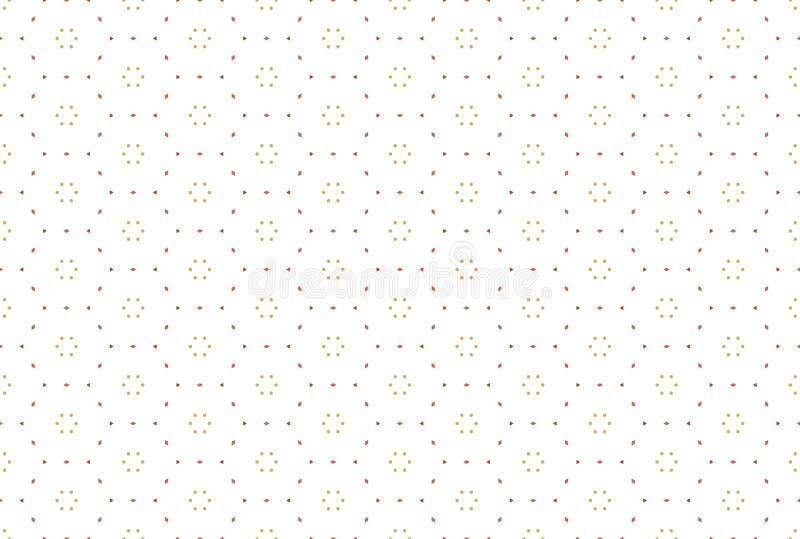 Naadloos patroon Witte achtergrond, gevormde hexagonale driehoeken en diamanten, cirkelpunten vector illustratie