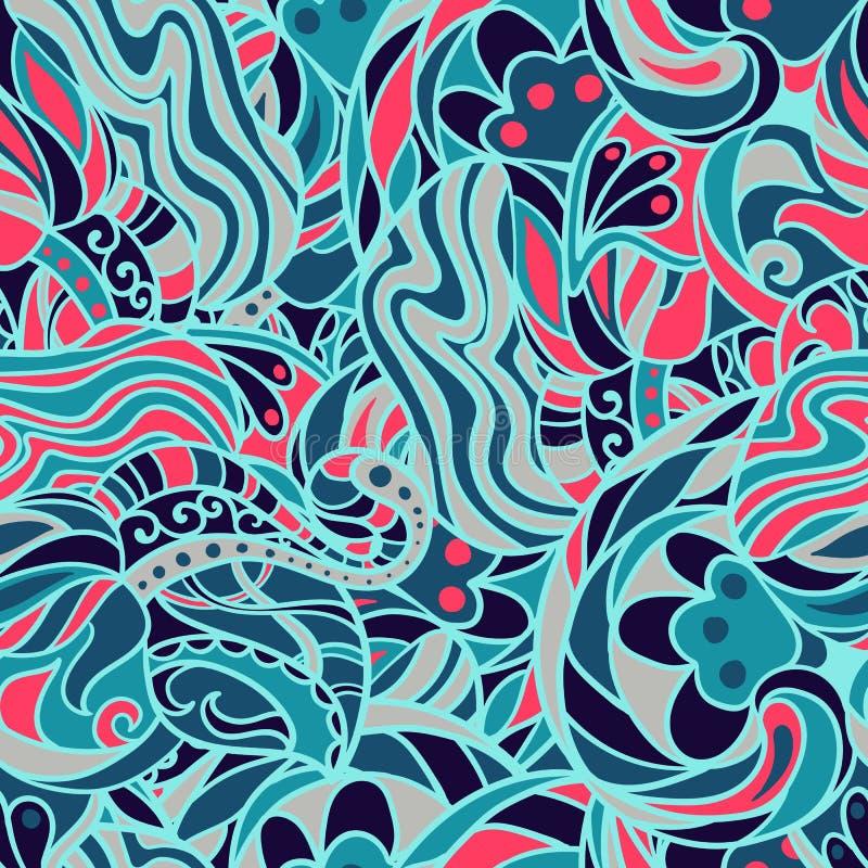 Naadloos patroon, zentlange ontwerp Heldere, kleurrijke achtergrond royalty-vrije stock afbeelding