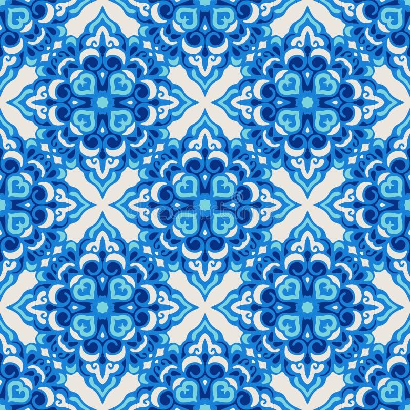 Naadloos patroonblauw stock illustratie