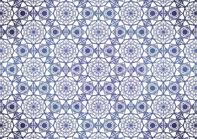 Naadloos patroonkant voor stof, witte en zwarte kleur Illustratie stock illustratie