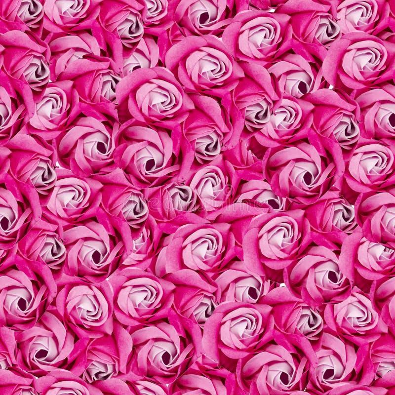 Naadloos patroonpatroon van heel wat rode rozen royalty-vrije stock fotografie