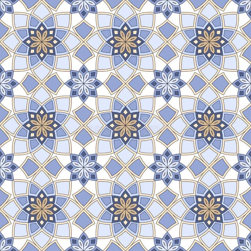 Naadloos patternwith oosters motief Veelkleurige lapwerkachtergrond royalty-vrije illustratie