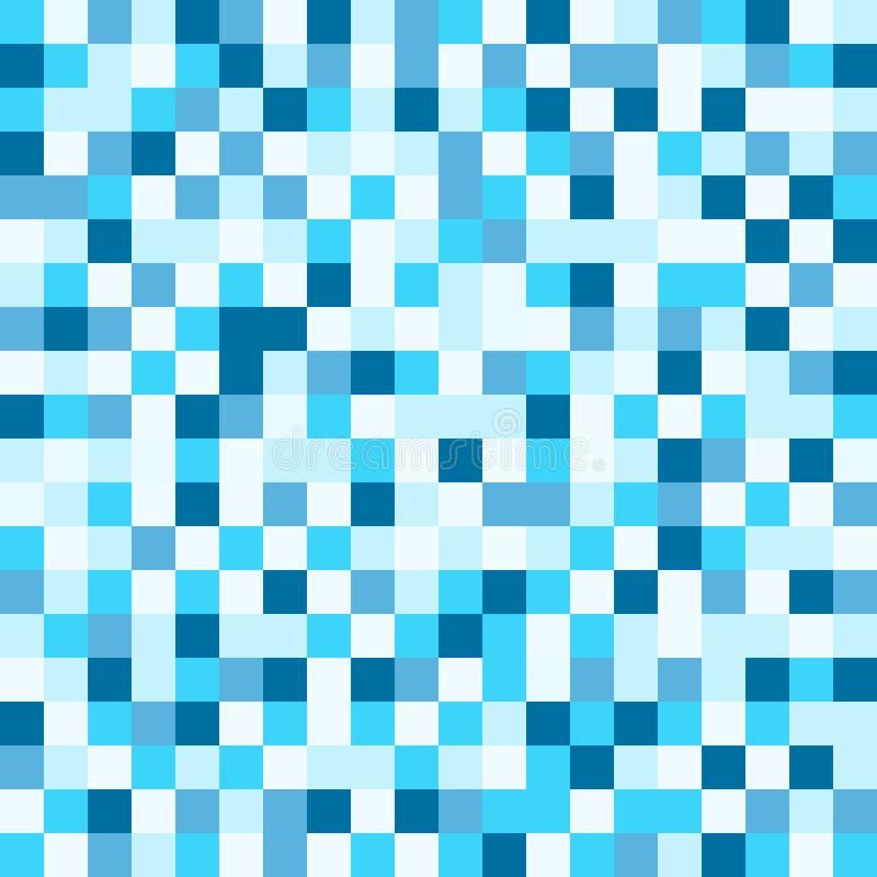 Naadloos pixel blauw wit patroon voor achtergrond stock illustratie