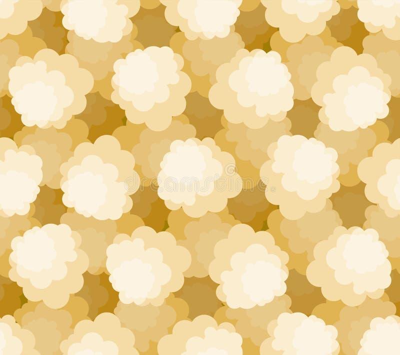 Naadloos popcornpatroon De achtergrond van het luchtgraan De Vectortextuur van de beeldverhaalstijl vector illustratie