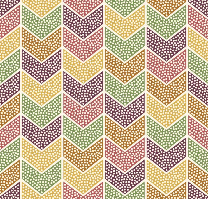 Naadloos punten geometrisch patroon vector illustratie