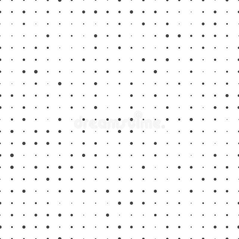 Naadloos puntenpatroon Abstracte Pixeltextuur Vector ircle bedelaars Ñ  royalty-vrije illustratie