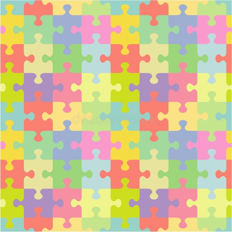 Naadloos puzzelpatroon stock illustratie