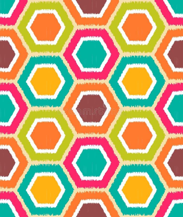 Naadloos Retro Geometrisch Patroon vector illustratie