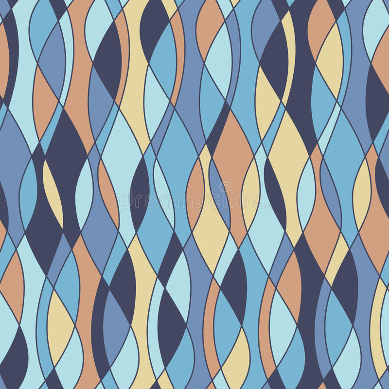 Naadloos retro patroon vector illustratie