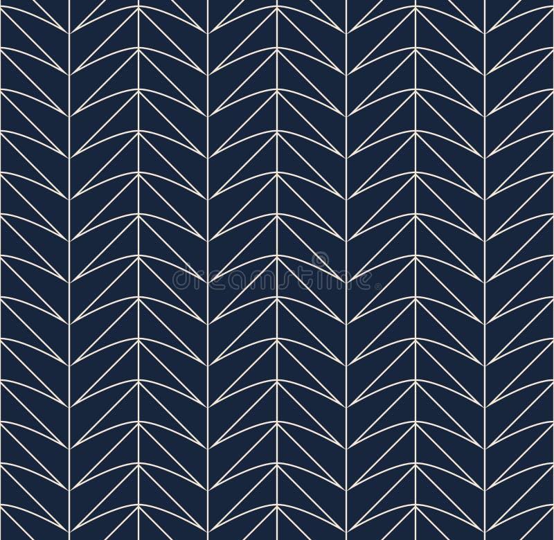 Naadloos retro patroon met geometrische vormen vector illustratie