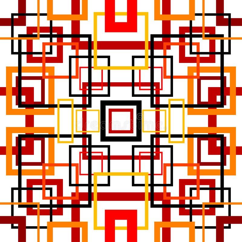 Naadloos retro patroon met vierkanten royalty-vrije illustratie