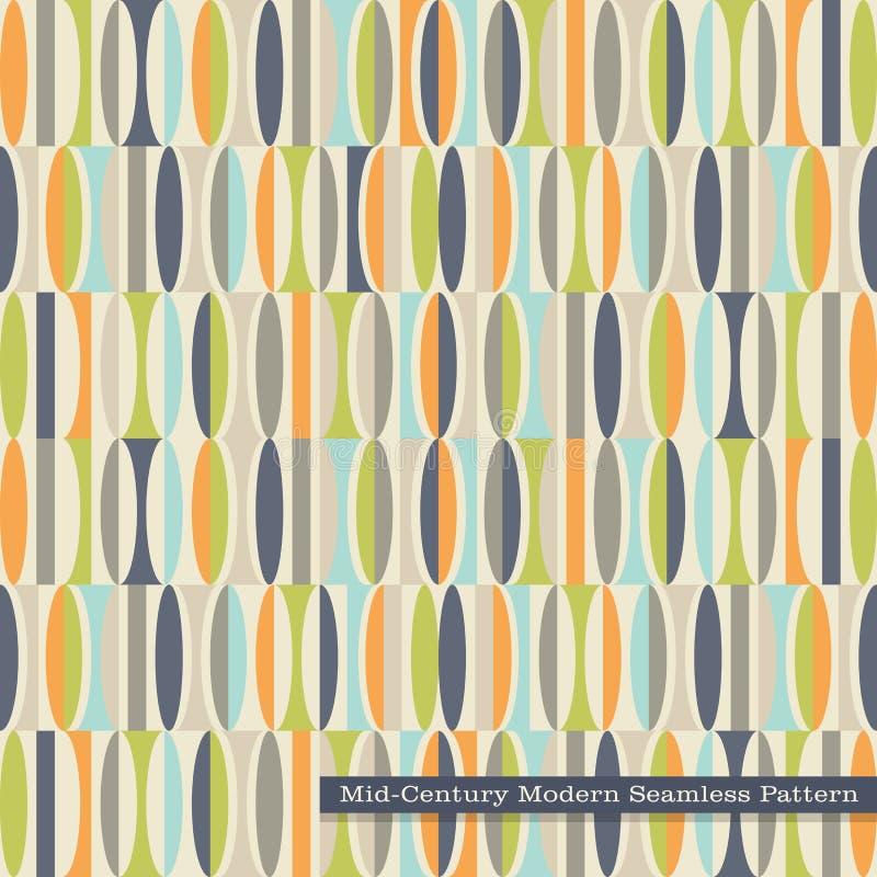 Naadloos retro patroon in midden van de eeuw moderne stijl vector illustratie