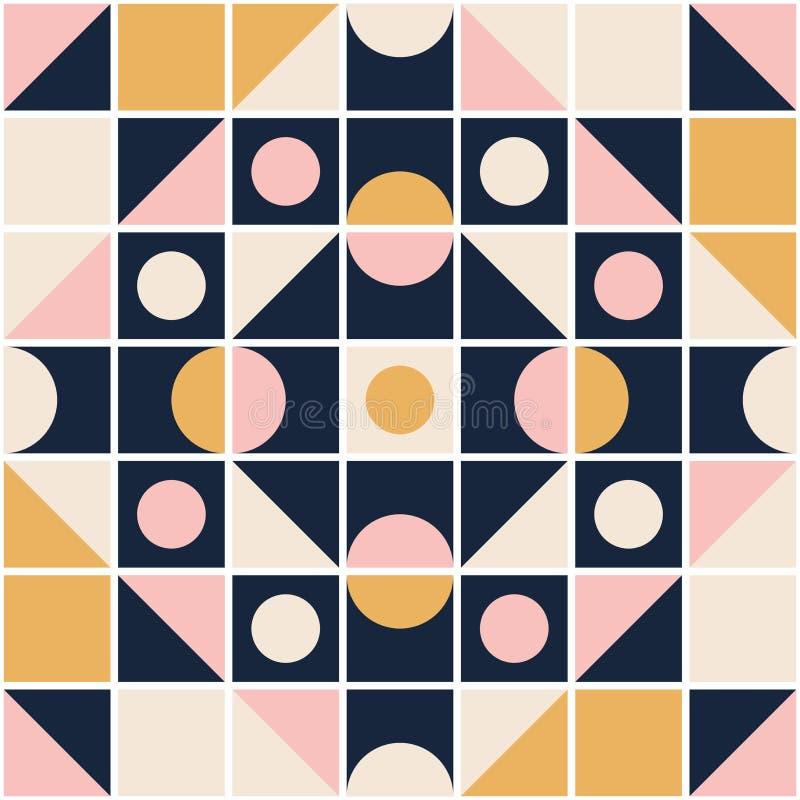 Naadloos retro patroon in mozaïekstijl vector illustratie