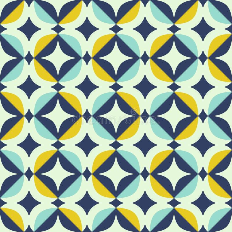 Naadloos retro patroon in Skandinavische stijl met geometrische elementen royalty-vrije illustratie