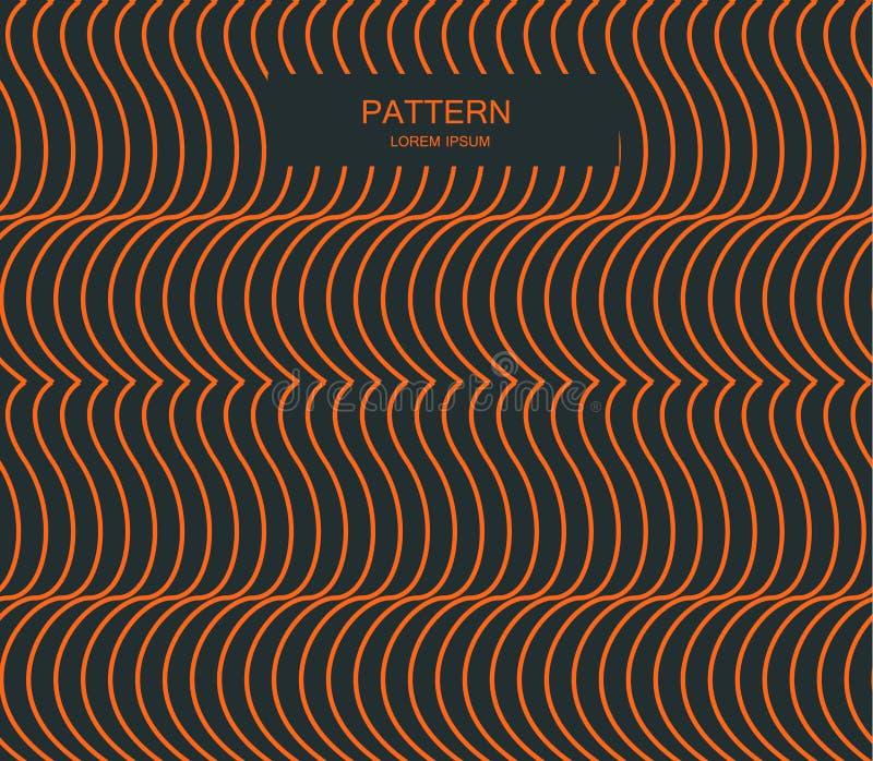 Naadloos rimpelingspatroon Het herhalen van textuur Golvende grafische achtergrond Eenvoudige lineaire golven royalty-vrije stock afbeelding