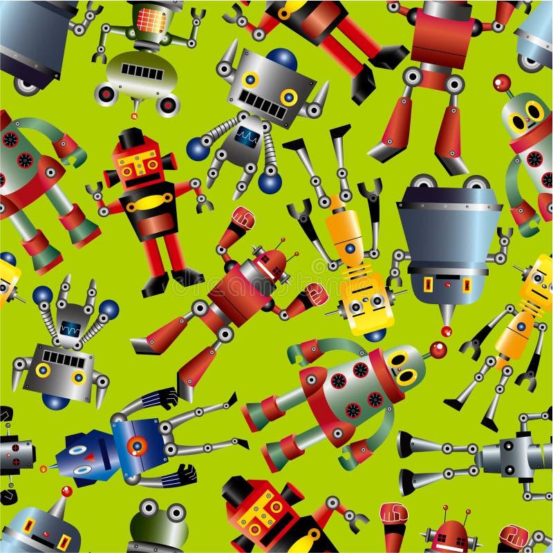 Naadloos robotpatroon royalty-vrije illustratie