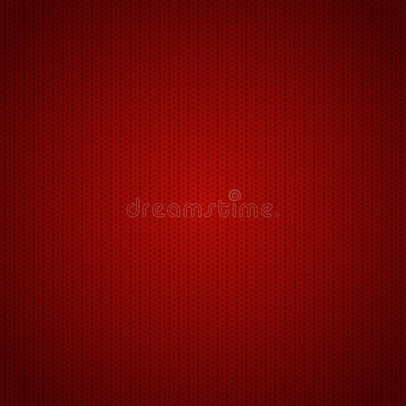 Naadloos rood gebreid patroon royalty-vrije illustratie