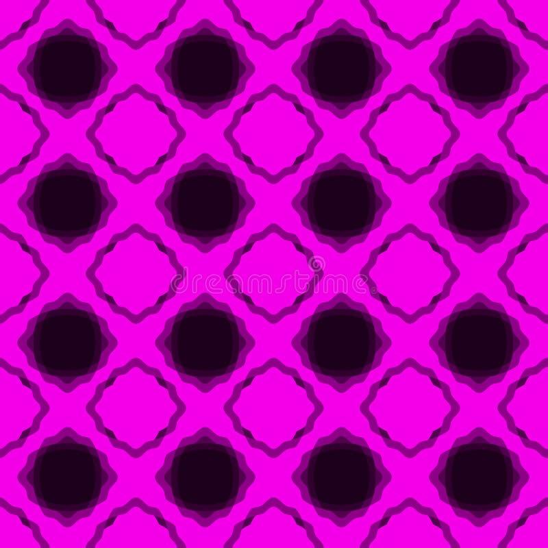 Naadloos roze kanten diamanten backgound patroon vector illustratie