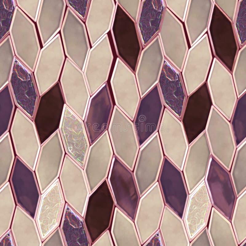 Naadloos roze patroon dat van kostbare glanzende tegels wordt gemaakt, ceramisch royalty-vrije stock fotografie