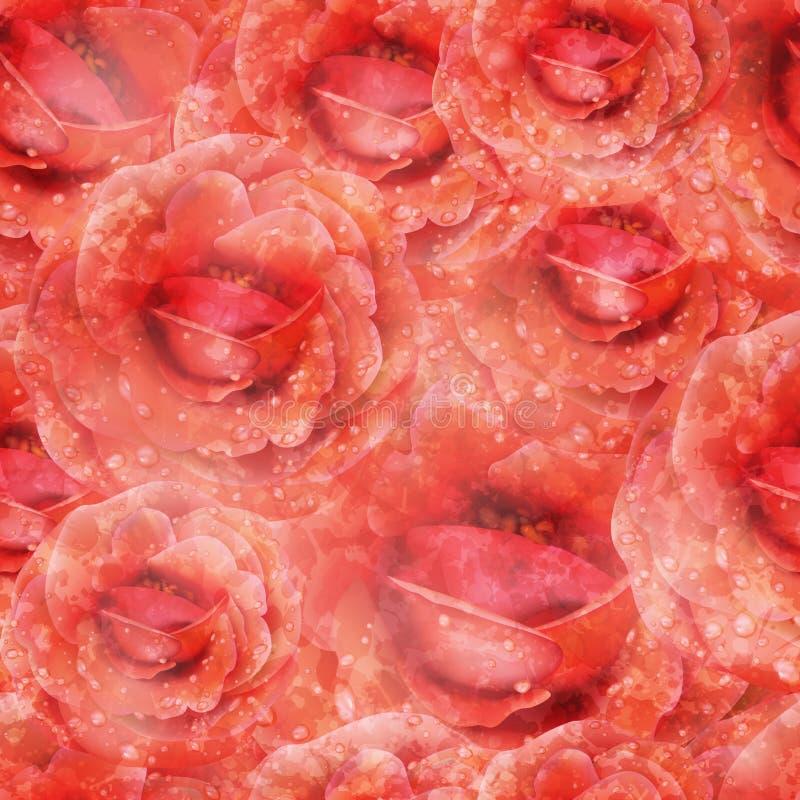 Naadloos rozenpatroon Vector, EPS 10 royalty-vrije stock foto's