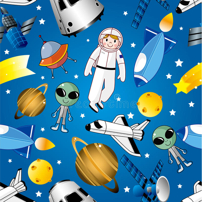 Naadloos ruimtepatroon royalty-vrije illustratie