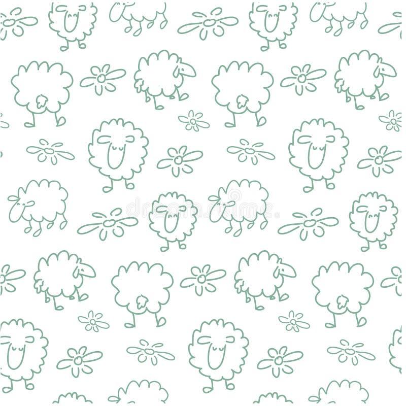 Naadloos schapenpatroon royalty-vrije stock foto