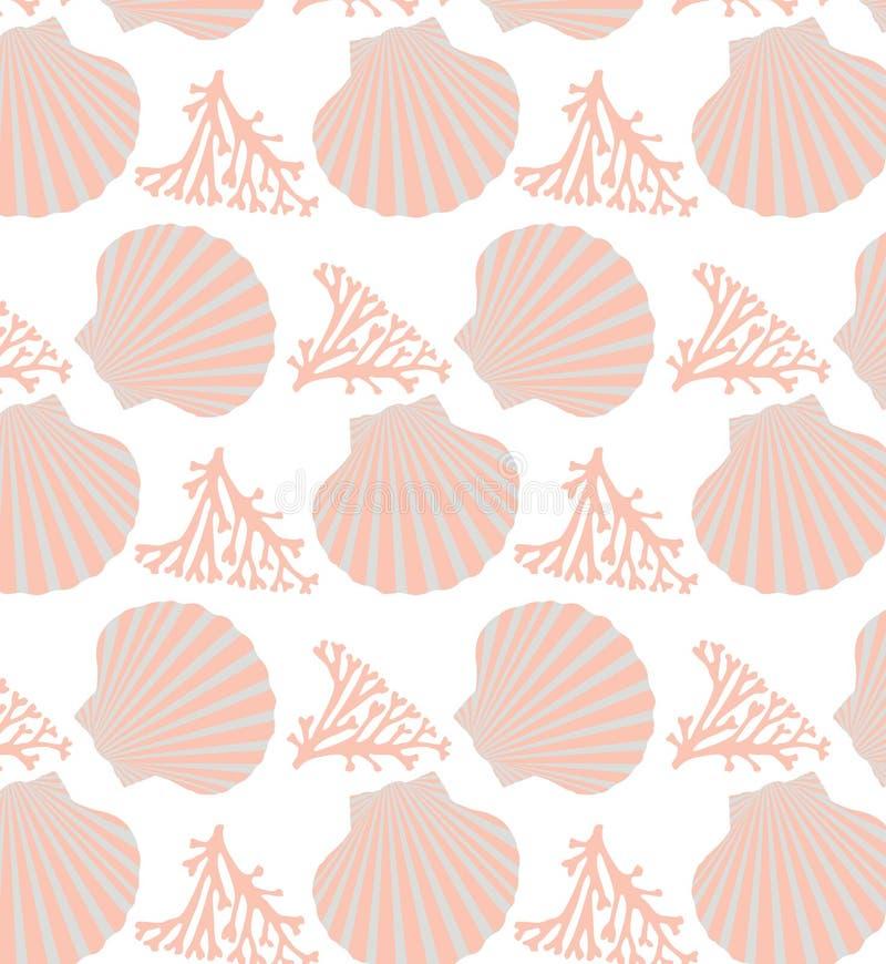 Naadloos Shell royalty-vrije illustratie