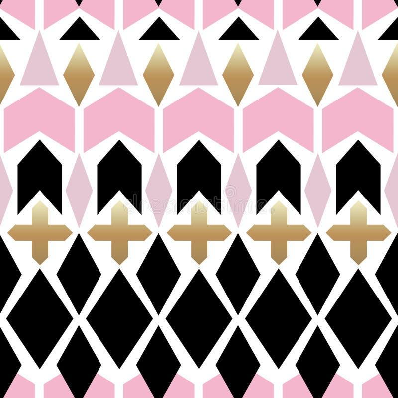 Naadloos sier abstract patroon op wit stock illustratie