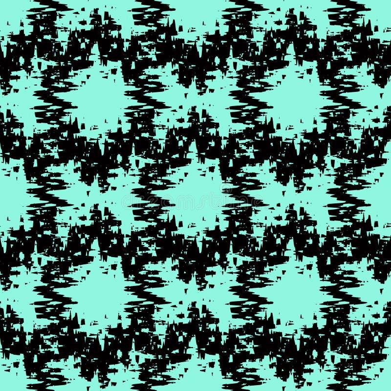 Naadloos sier geometrisch patroon stock illustratie