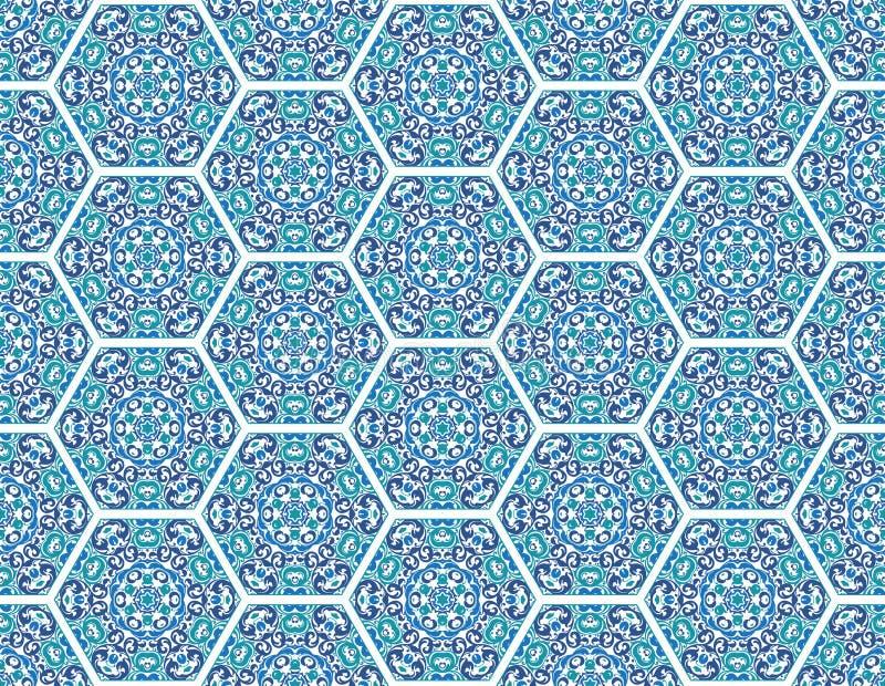 Naadloos sier oosters patroon vector illustratie