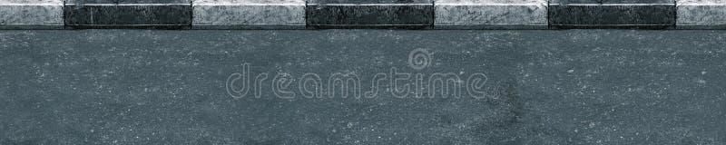 Naadloos (slechts horizontaal) asfalt royalty-vrije stock foto