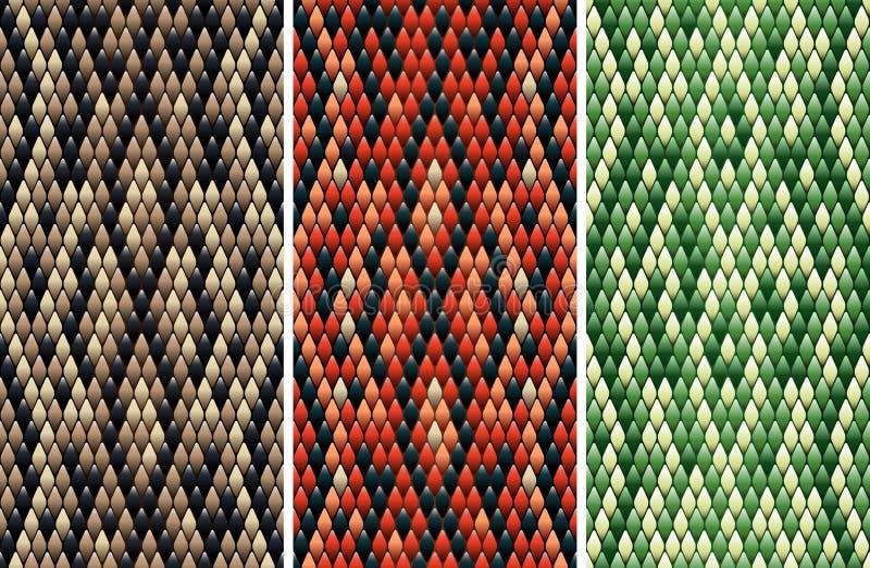 Naadloos snakeskinpatroon royalty-vrije illustratie