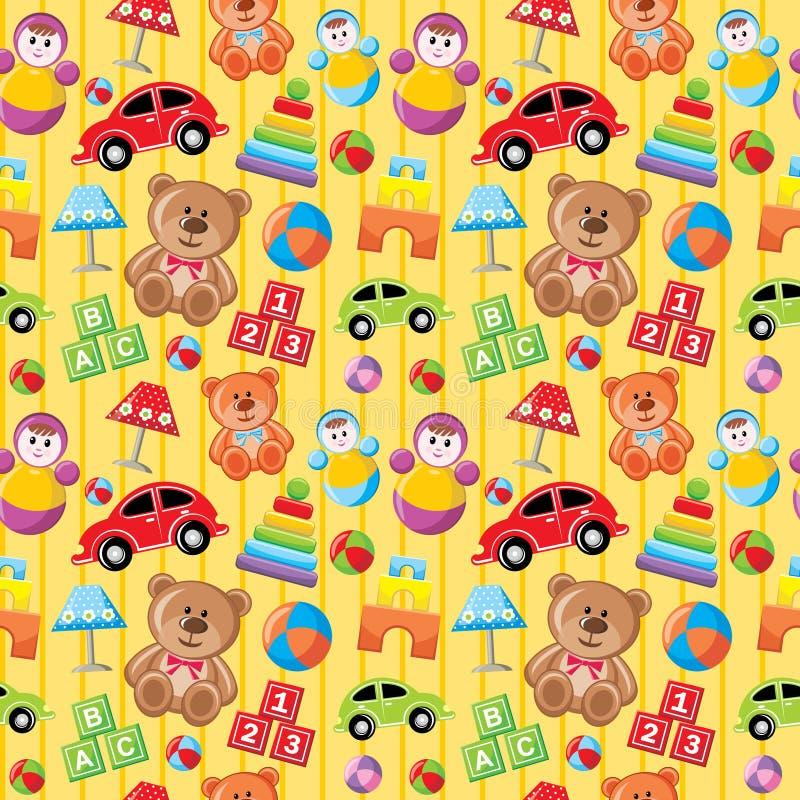 Naadloos speelgoedpatroon. royalty-vrije illustratie