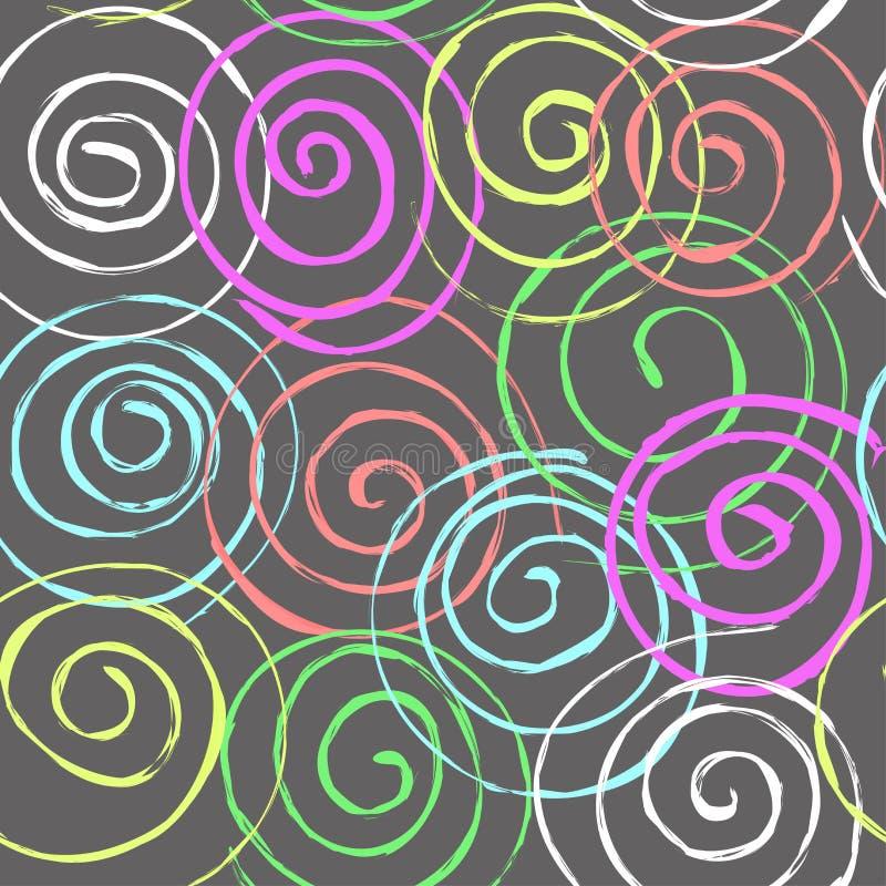 Naadloos Spiraalvormig Patroon stock illustratie