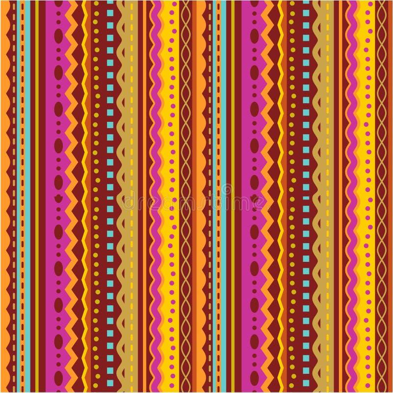 Naadloos strepen en kantpatroon vector illustratie