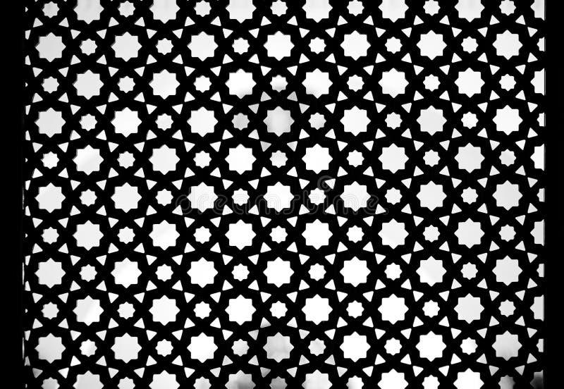 Naadloos Traditioneel Islamitisch die Patroon en Ontwerp als Backgr wordt gebruikt stock afbeelding