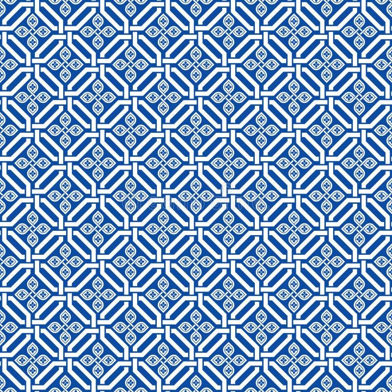 Naadloos traditioneel Japans uitstekend patroon vector illustratie