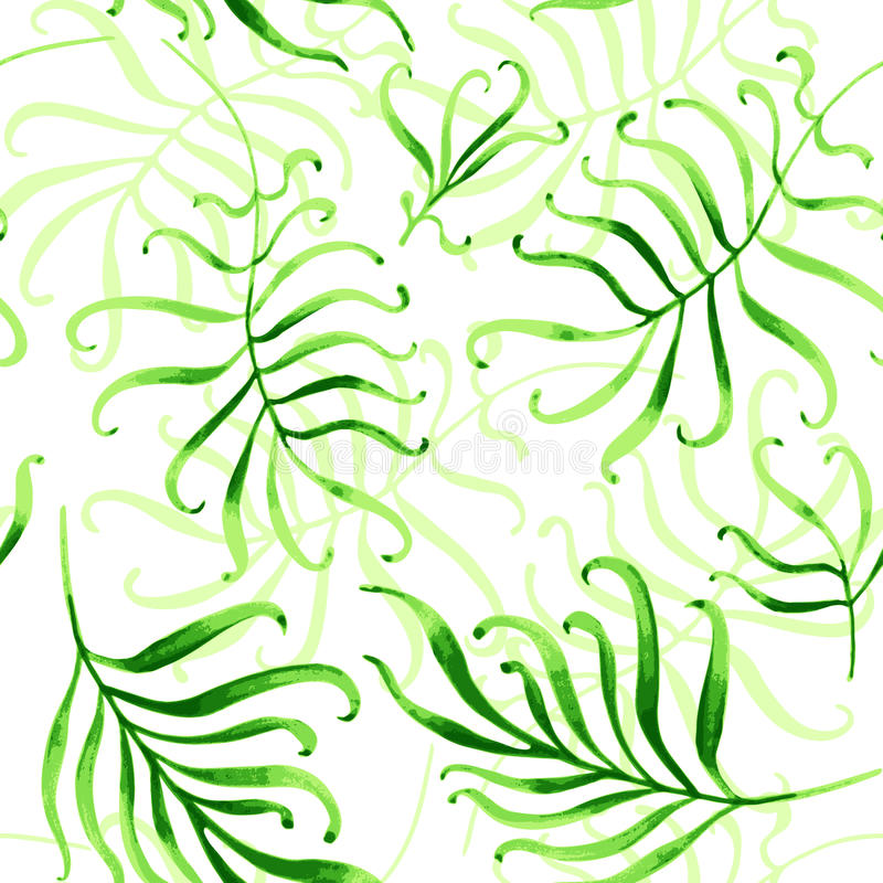 Naadloos tropisch ornament vector illustratie