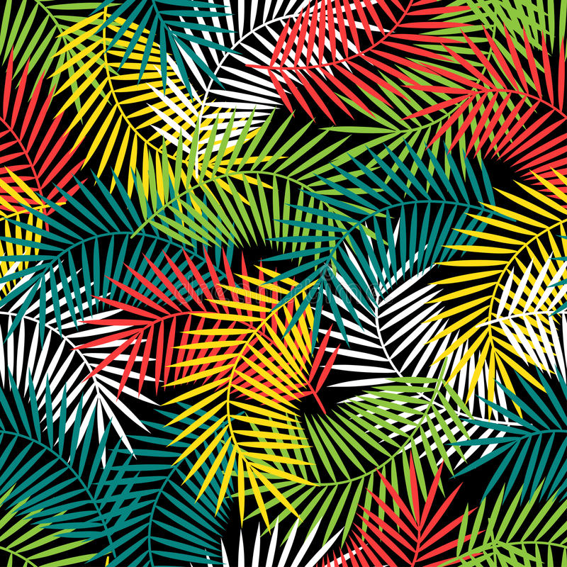 Naadloos tropisch patroon met gestileerde kokosnoot stock illustratie