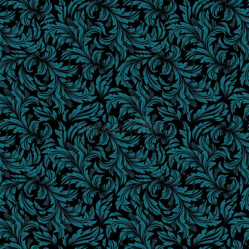 Naadloos uitstekend behang, bloemen retro patroon, vector illustratie