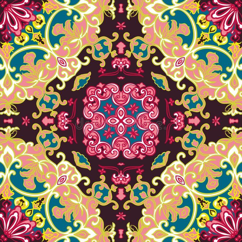 Naadloos uitstekend bloemenpatroon royalty-vrije illustratie